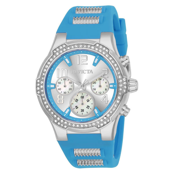 Invicta Women's 24202 BLU Quartz Multifunction Silver Dial Watch