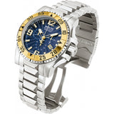 Invicta Men's 10894 Excursion Reserve Chronograph Blue Textured Dial Stainless Steel Watch