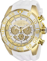 Invicta Men's 26303 Speedway Quartz Multifunction Silver, Gold Dial Watch