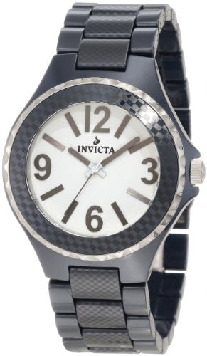 Invicta 1187 Men's Ceramics Collection Swiss Quartz White Dial Blue Ceramic Watc