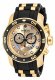 Invicta Men's 17566 Pro Diver Quartz 3 Hand Gold Dial Watch