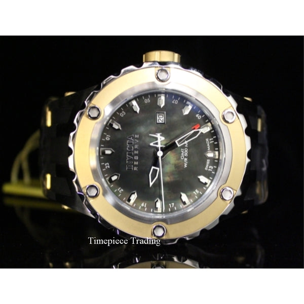 Invicta 80586 Mens Reserve Specialty Subaqua Swiss GMT MOP Dial SS Rubber Watch