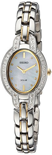 Seiko Women's 'TRESSIA' Quartz Stainless Steel Casual Watch, Color:Two Tone (Model: SUP325)
