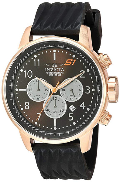 Invicta Men's 23818 S1 Rally Quartz Chronograph Black, Grey Dial Watch