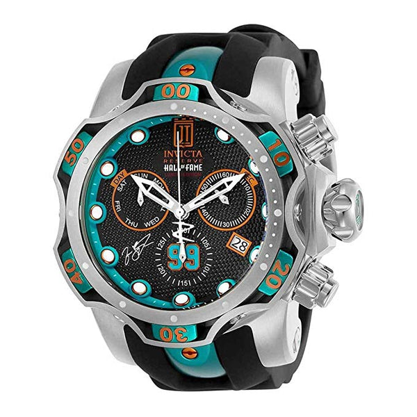Invicta Men's 25305 Jason Taylor Quartz Chronograph Gunmetal Dial Watch