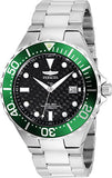 Invicta Men's 26175 Pro Diver Automatic 3 Hand Black Dial Watch