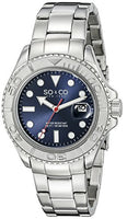 SO&CO New York Men's 5053.2 Yacht Club Quartz Date Luminous Stainless Steel Link Bracelet Watch