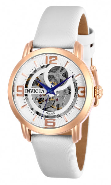 Invicta Women's 26292 Objet D Art Automatic 3 Hand Silver Dial Watch
