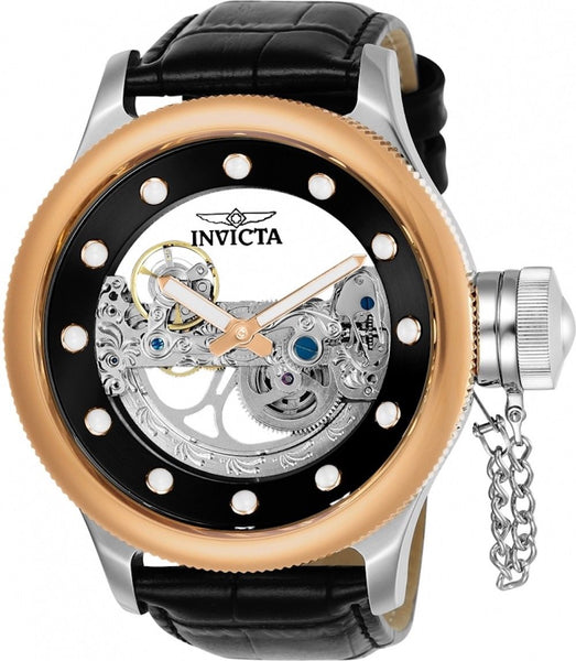Invicta Men's 24595 Russian Diver Automatic 3 Hand Black Dial Watch