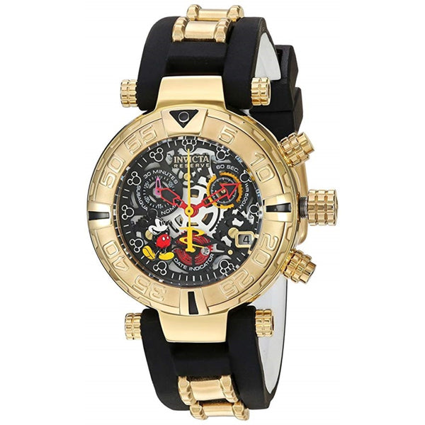 Invicta Women's 'Disney Edition' Swiss Quartz Stainless Steel and Silicone Casual Watch, Color:Two Tone (Model: 22737)