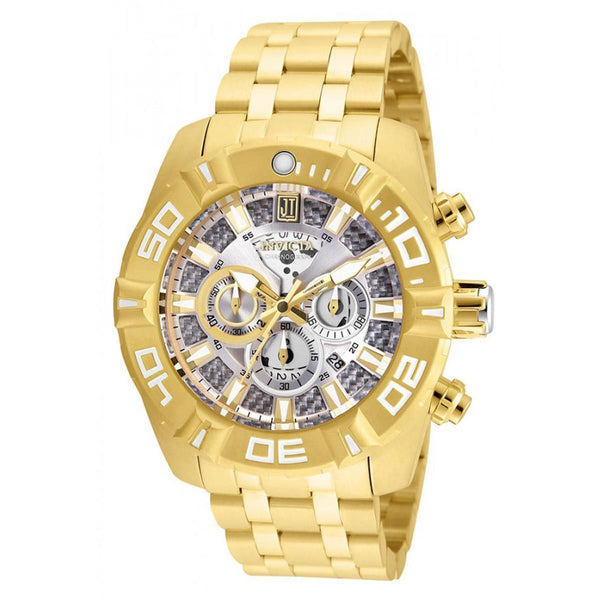 Invicta Men's 24846 Jason Taylor Quartz Multifunction Silver Dial Watch