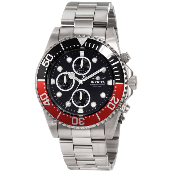 Invicta Men's 1770 Pro Diver Quartz Chronograph Black Dial Watch