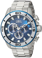 Invicta Men's 22586 Pro Diver Quartz Chronograph Blue Dial Watch