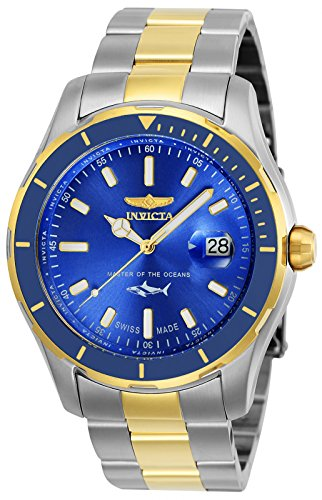 Invicta Men's 25815 Pro Diver Quartz 3 Hand Blue Dial Watch