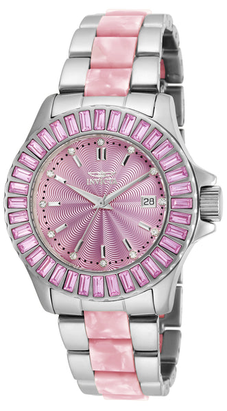 Invicta Women's 18875 Angel Quartz 3 Hand Pink Dial Watch