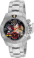 Invicta Women's 24506 Disney Quartz Multifunction Black, Gunmetal, Silver Dial Watch