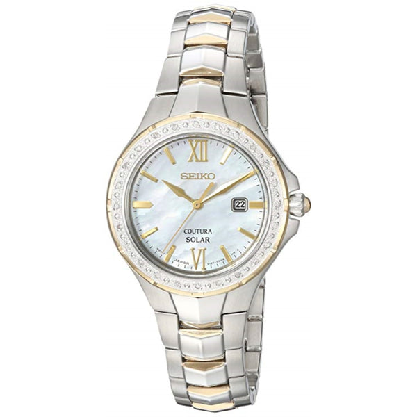 Seiko Women's 'COUTURA' Quartz Stainless Steel Casual Watch, Color:Two Tone (Model: SUT240)