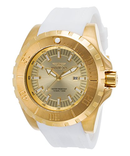 Invicta Men's 23740 Pro Diver Quartz 3 Hand Gold Dial Watch