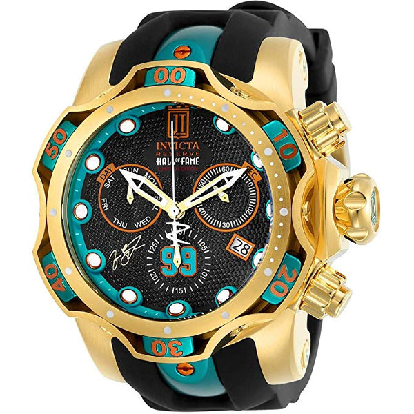 Invicta Men's 25306 Jason Taylor Quartz Chronograph Gunmetal Dial Watch