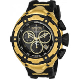 New Mens Invicta 21353 Reserve Bolt Swiss Chronograph Gold IP Black Rubber Watch