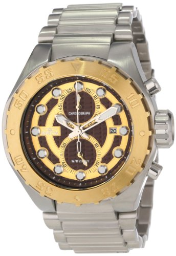 Invicta 13089 Men's Pro Diver Chronograph Textured Dial Stainless Steel Watch