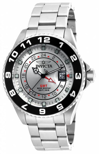 Invicta Men's 18239 Pro Diver Quartz 3 Hand Silver Dial Watch