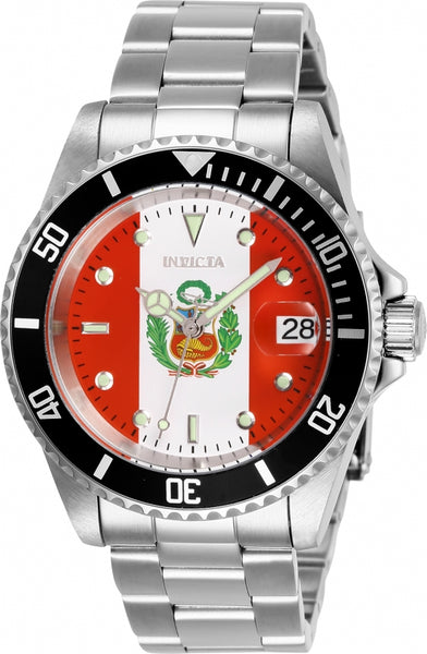 Invicta Men's 28703 Pro Diver Automatic 3 Hand Red, White Dial Watch