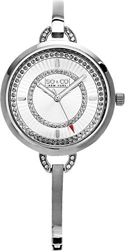 SO & CO New York Women's 5222.1 silver Stainless Steel Watch