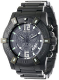 Invicta Men's 0358 II Collection Chronograph Black Dial Black Ion-Plated Stai...