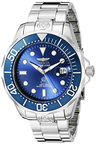 Invicta Men's 16036 Pro Diver Automatic 3 Hand Metallic Blue Dial Watch