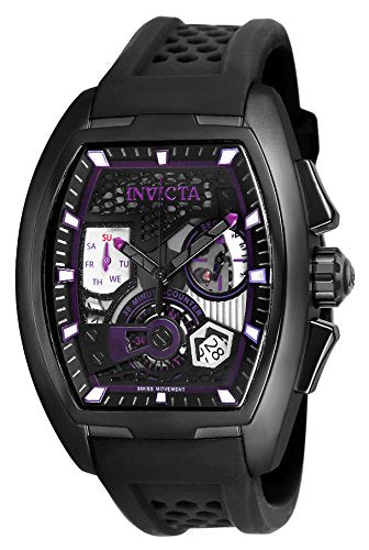 Invicta Men's 25936 S1 Rally Quartz Multifunction Dark Purple, Black Dial Watch