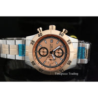 Invicta 11277 Men's Specialty Chronograph Rose Gold Textured Dial Two Tone Watch