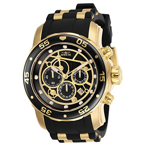 Invicta Men's 25710 Pro Diver Quartz Multifunction Black Dial Watch