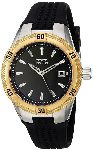 Invicta Women's 24598 Angel Quartz 3 Hand Black Dial Watch