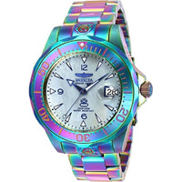 Invicta Men's 47mm Grand Diver Automatic Iridescent Platinum Mother Of Pearl Dial Stainless Steel Bracelet Watch
