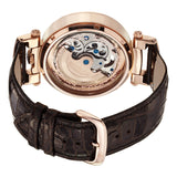 Men's Classy Watch on a Brown Leather Strap, RT case and RT Dial