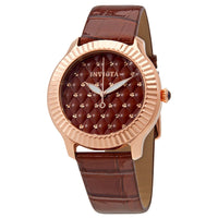 Invicta Angel Lady Brown Quilted Dial Ladies Watch 25745