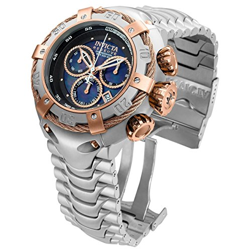 Invicta 21342 Men's Bolt Steel Bracelet & Case Swiss Quartz Blue Dial Watch