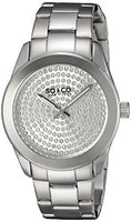 SO&CO New York Women's 5067.1 Madison Quartz Crystal Filled Dial Stainless Steel Link Bracelet Watch