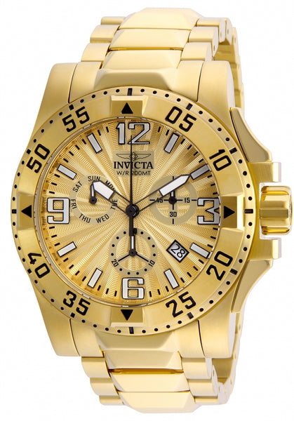 Invicta Men's 23902 Excursion Quartz Chronograph Gold Dial Watch