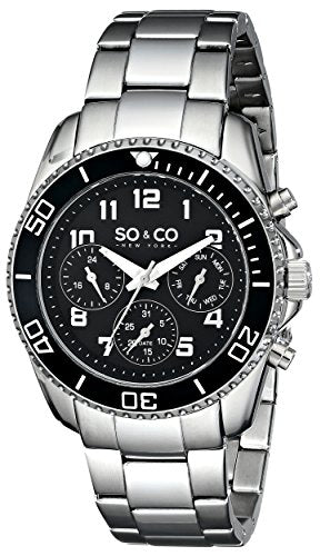 SO&CO New York Men's 5029.1 Yacht Club Analog Display Quartz Silver Watch