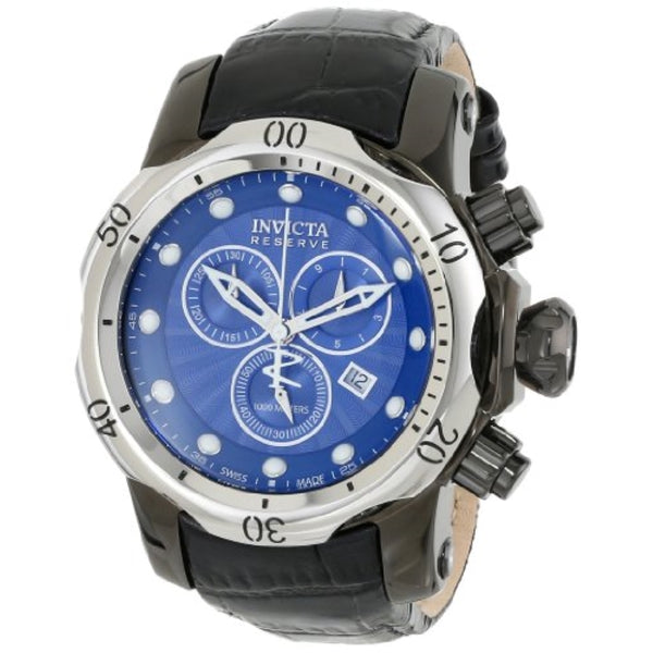 Invicta 13906 Men's Venom Analog Display Swiss Quartz Black Leather Watch