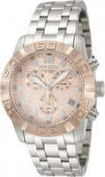 Invicta 80371 Men's Pro Diver Swiss Quartz Rose Gold Face, Stainless Steel Watch