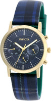 Invicta 20084 Women's 36mm Heritage Collection Plaid Silicone Strap Watch - Blue