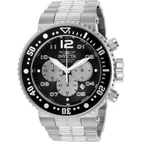 Invicta Men's 25073 Pro Diver Quartz Chronograph Black, Silver Dial Watch