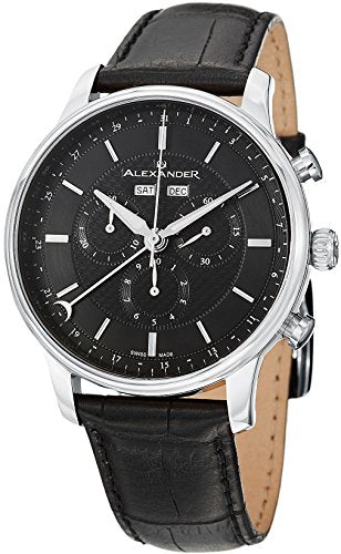 Alexander A101-02 Statesman Chieftain Mens Watch Chronograph Leather Swiss Watch