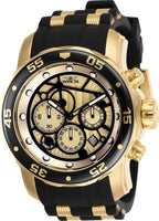 Invicta Men's 25709 Pro Diver Quartz Multifunction Gold Dial Watch