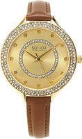 SO & CO New York Women's 5241.4 Brown Leather Watch