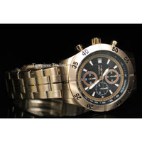 Invicta Men's 11278 Specialty Chronograph Black Textured Dial Rose Gold Stain...