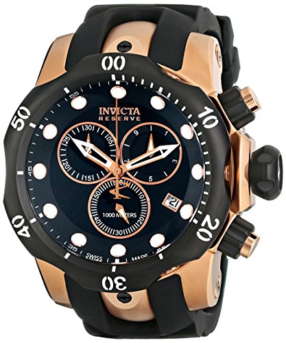 Invicta Men's 5733 Venom Quartz Chronograph Black Dial Watch